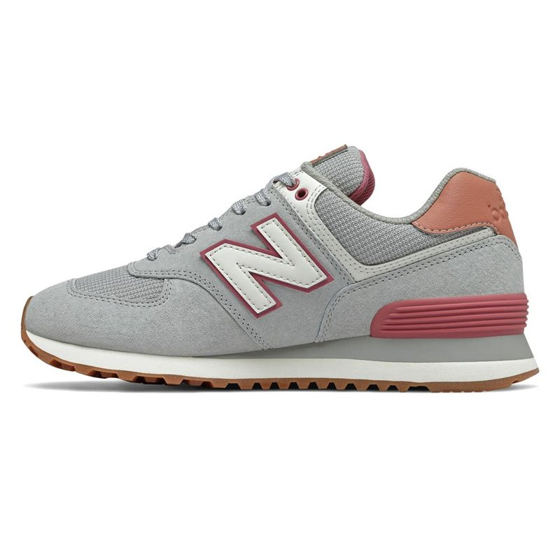 new balance coral gris mujer 574